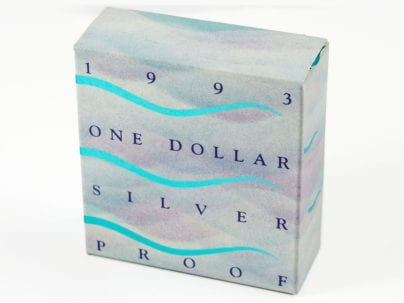 1993 One Dollar Water is Life Silver Proof Coin in Box